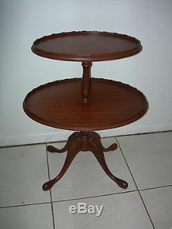 Lampe À Café Ferguson Vintage Antique Fin Ovale À 2 Niveaux, Tarte À La Table Chippendale Nj