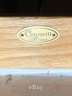 Lan779 Councill Chippendale Quatre Tiroirs En Acajou Poitrine Avec Pullout Table D'écriture