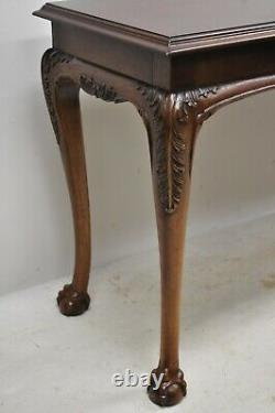 Lane Chinese Chippendale Georgian Ahogany Ball & Claw Console Canapé Hall Table