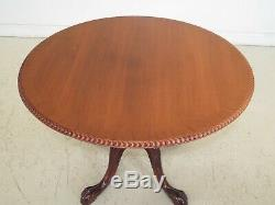 Lf48334ec Ronde Chippendale Acajou Clawfoot Centre Table
