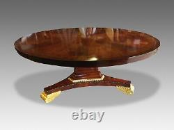 MCC Designs, Beautiful Sunburst Flame Acajou Circulaire Grandes Tables À Manger