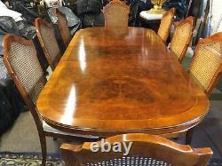 Magnifique Designer Art Deco Style Burr Yew Tree Table De Dîner Pro French Polisée