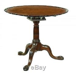 Magnifique Table Inclinable Chippendale De Swc, Avec Dessus En Pâte À Tarte, Angleterre, Env. 1780