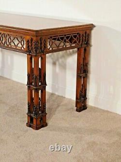 Massive Baker Furnture Co Stately Homes Irish Chippendale Console Table