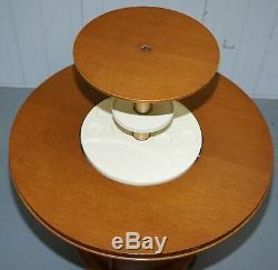 Meuble De Table À Cocktail En Noyer Des Années 1930 Avec Support À Décanter Pour Boissons À La Hausse