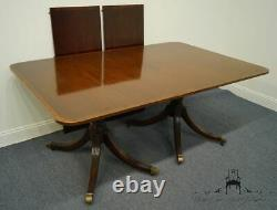 Meubles Baker Solid Mahogany Traditional Chippendale 103 Double Pedestal D
