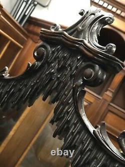 Miroir Antique De Table. Superbe Qualité En Effet, Acajou Sculpté, 81 CM De Haut