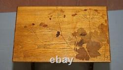 Nest Extrêmement Rare De Quatre Emile Galle Spécimen Tableaux Bois Art Nouveau 4