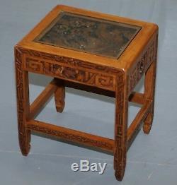 Nid Sculpté De Tables Chinoises Représentant Des Scènes De Fleurs De Bateau-dragon De Nobles