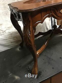 Nu Sculpté Lady Noyer Plateau Top Table Basse