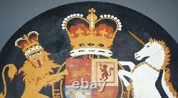 One Of A Kind Circa 1860 Pietra Dura Specimen Marble Centre Table Armorial Crest