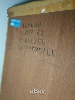 Pair Drexel Heritage Chippendale, Tables De Bout Et Tiroir De Chevet, Portes