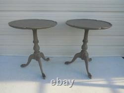 Paire Antique Anglais Tables De Thé Clawfoot Gustavian Tables Finales Français Tables Côtés