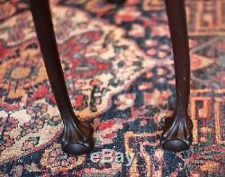 Paire De 1800 Antique Chippendale, Fin, Side Tables Mahogany Billes Et Pieds Claw