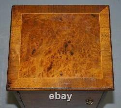 Paire De Beaux Tiroirs De Table De Chevet De Burr Walnut Circa 1940