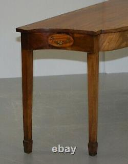 Paire De George III 1780 Satinwood & Tulip Wood Polychrome Painted Console Tables