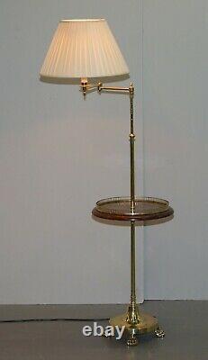 Paire De Lampes Articulées De Lecture De Table Latérale De Régence De Régence Burr Walnut