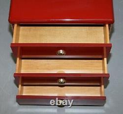 Paire De MID Century Modern Oak & Bakelite Vintage Chest Of Drawers Side Tables