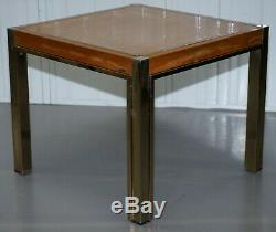 Paire De Renato Zevi 1923-1996 Maple & Brass Jeroen Markies Side Tables Lampe Fin