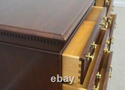 Paire Hickory Chaise James River Ahogany Chippendale Tables De Chevet Tables De Chevet