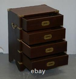 Paire Ofvintage Harrods Kennedy Military Campaign Side Table Chests Of Drawers Paire Ofvintage Harrods Kennedy Military Campaign Side Table Chests Of Drawers Paire Ofvintage Harrods Kennedy Military Campaign Side Table Chests Of Drawers Paire Of