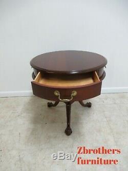Pennsylvania House Cerise Chippendale End Table Bouillotte Boule Griffe