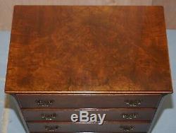 Petit Circa 1930 Du Coffre Noyer 1950 Chevet Table Sized 76cm Grand