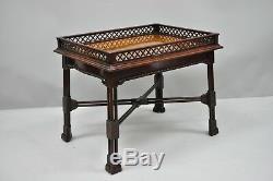 Petite Table Basse En Acajou Et Choux De Chine