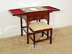 Rare Baker Furniture Company Historic Charleston Acajou Coiffeuse W Banc