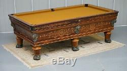 Rare Charles X Circa 1800 Piscine Rosewood Marqueterie Marqueterie Snooker Billard