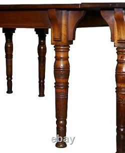Rare Gillows Lancaster 1789-1795 George III American Walnut Dining Table 20 Pieds