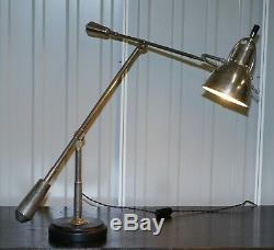 Rare Grand Art Déco Edouard Wilfred Buquet Style Français Articulé Lampe De Table