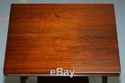 Rare Original Gillows Lancaster Circa 1789-1795 Acajou Fold Table Game Card