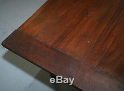 Rare Vers 1820 Fruitier Deux Plank Top Anglais Ferme Réfectoire Table À Manger