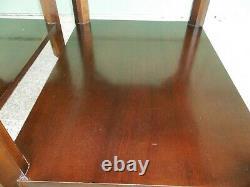 Réducte! Vintage Lane Inlaid Chinese Chippendale Acajou Fin / Table Latérale
