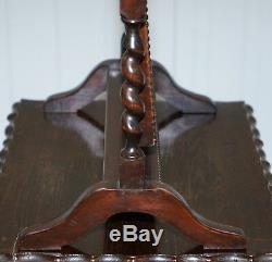 Regency 1815 Table Cheval Miroir Verre Plat Original En Verre Orge Twist