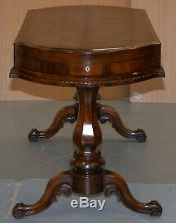Restauré De L'époque Victorienne En Bois De Rose Table Bagatelle Richement Pub Games Sculpté