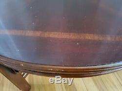 Round Vintage Lane Chippendale Chinoiserie Table Basse