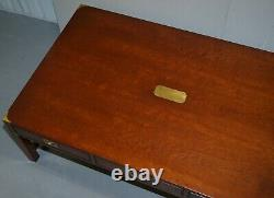 Rrp £3799 Acajou Harrods London Kennedy Military Campaign Coffee Table Drawers