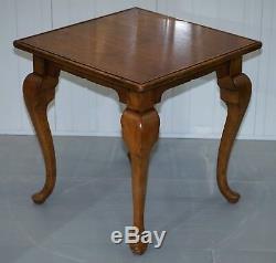 Rrp De 2699 Ralph Lauren Walnut Occasionnels Very Large Fin Côté Lampe De Vin De Table