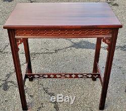 Set 3 Antique Anglais Acajou Chinese Chippendale Nesting Nest Des Tableaux Asiatiques