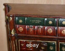 Sideboard Vintage De Bibliothèque De Faux Livre Avec Le Tiroir Jumeau Belle Pièce Décorative