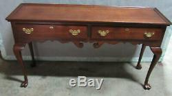 Statton Cerise Sofa Table Console Griffe Pieds Chippendale