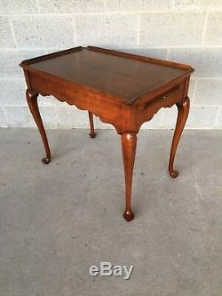 Statton Old Towne Solide Cerise Style Queen Anne Thé Table Table D'appoint