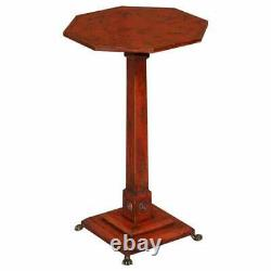 Sublime Circa 1940's Red Lacquered Chinese Chinoiserie Side Lamp End Wine Table