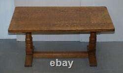 Sublime Circa 1950's Robert Mouseman Thompson 6 Person Dining Table Must See