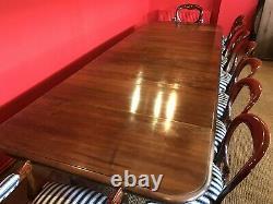 Superbe 15ft Grand Antique Table En Noyer Souillé Français Pour Être Pro Français Poli