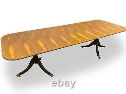 Superbe Designer Art Déco Style Burr Yew Table À Manger Bois Pro Poli Français