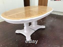 Superbe Table À Manger Design De Style Art Déco En Chêne Et Frêne Blanc Poli
