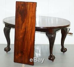 Superbe Table À Manger Extensible En Acajou Massif De James Phillips & Son De Style Victorien